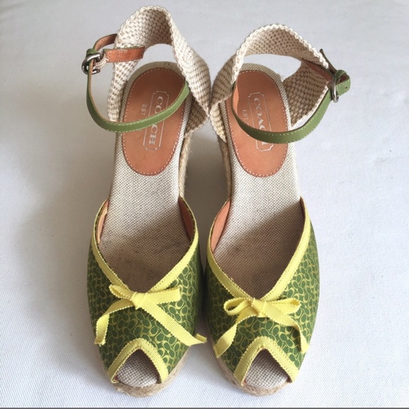 2c7457ec0b Coach Shoes | Espadrilles Peep Toe Wedges | Poshmark